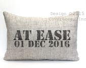 "military retirement gift, military gift, at ease pillow, navy gift, army gift, air force gift - ""At Ease"""