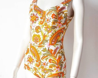 Swimsuit one Piece Vintage 60's 1960's Swimsuit Swimwear