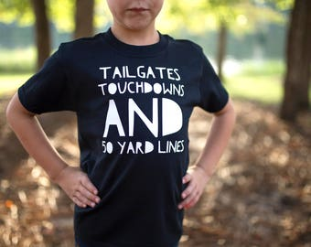 Tailgates and Touchdowns - Toddler Football Shirt - Football Shirt - Toddler Football, Football Onesie - Tailgates Shirt - Touchdown Shirt