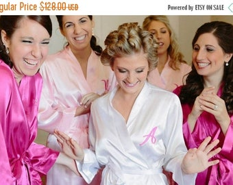 ON SALE Monogrammed Robe, Robe PACKAGE Of 4, Bridal Party Robes, Bridesmaid Gifts and Bride Robes