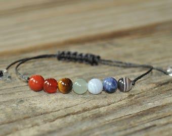 Chakra Bracelet, 7 Chakra Bracelet, Energy Bracelet, Yoga Bracelet, Meditation Bracelet, Crystal Bracelet, Intent Bracelet, Rainbow Bracelet