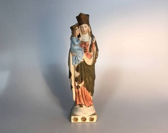 copy of the miraculous statue at the Shrine of St Anne de Beaupre in Quebec