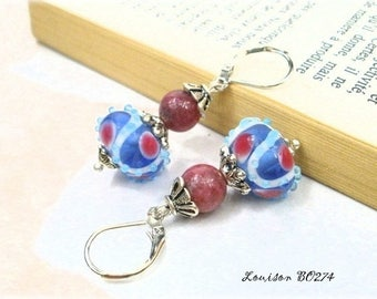 Creating glass earrings handcrafted * Louison BO274 *.