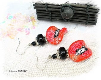 Earrings polymer clay and silver * Deena BO338 *.