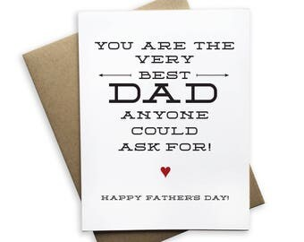 You Are The Very Best Dad Notecard, Fathers Day card, dad, father, you got this notecard, blank card, folded card