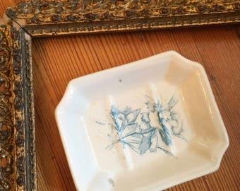 Antique ironstone soap dish