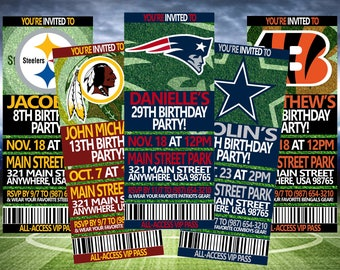 FOOTBALL BIRTHDAY TICKET, Football Birthday Invitation, Football Invitation, Football Ticket, Tailgate Party Invite, Digital