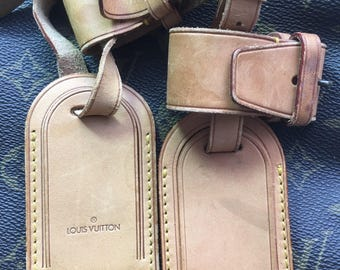 Authentic Louis Vuitton Set Of Two Luggage Tag and Two  Luggage Strap .