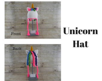Unicorn Hat -  Kids Unicorn Hat - Adult Unicorn Hat - Unicorn Costume - Animal Hat - Photo Prop - Hats for Kids - Fun Hats