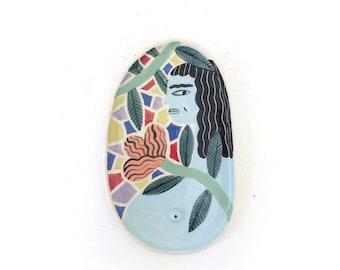 Mosaic girl plate
