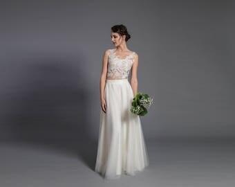 Maxi tulle skirt with pockets - tulle skirt - ecru floor length skirt - ecru maxi skirt, wedding gown, wedding skirt - elegant bridal dress