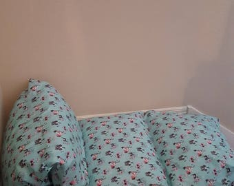 DOGGY PRINT PILLOWBED