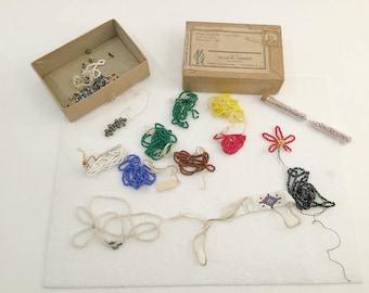 Vintage Seed Beads, Czechoslovakian, Czech Seed Beads, Beading Kit, Red Beads, Black Beads, Beaded Daisy, Woven Beads, 1930s,