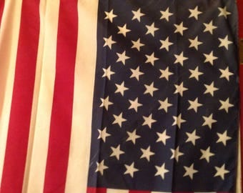 Vintage U.S. / American Flag with Cotton with 50 Stars