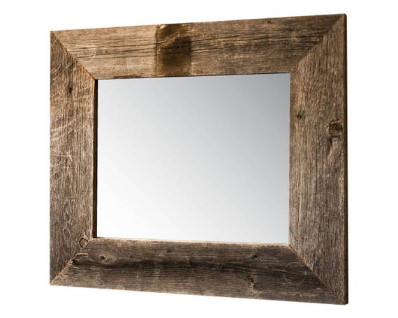 17x20 Mirror with Barnwood Frame Natural