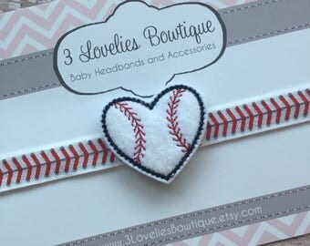 Baseball Headband..Baby Headband..Baby Headbands..Newborn Headband..Baseball Baby Headband..Baby Bow..Baby..Baby Girl Headband..Bow Headband