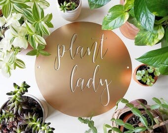 15 inch Plant Lady metal sign