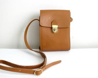 Vintage Maurizio Taiuti Brown Leather Crossbody Bag Made in Italy