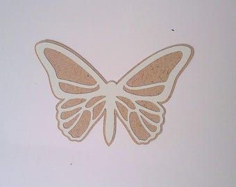 """Small """"The Butterfly"""" Brown and ecru"""