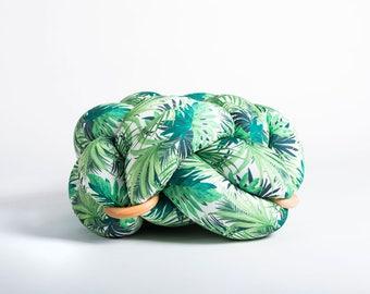 Medium knot Floor Cushion in Jungle green, Knot Floor Pillow pouf, Modern pouf, cushion, pouf ottoman, Meditation Pillow,