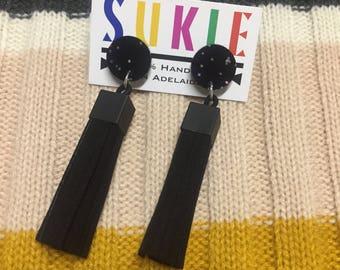 Sukie Leather Tassel Earrings