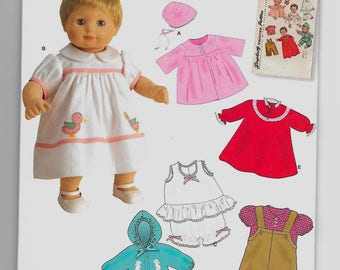 1708 Simplicity 15 Inch Doll Clothes Sewing Pattern