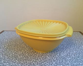 Vintage yellow Tupperware container