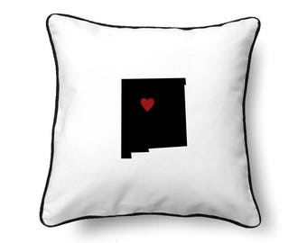 New Mexico Pillow - New Mexico Gift - New Mexico Map - NM State Map