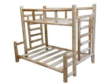 Rustic Cedar Log Bunk Bed -Bare Wood