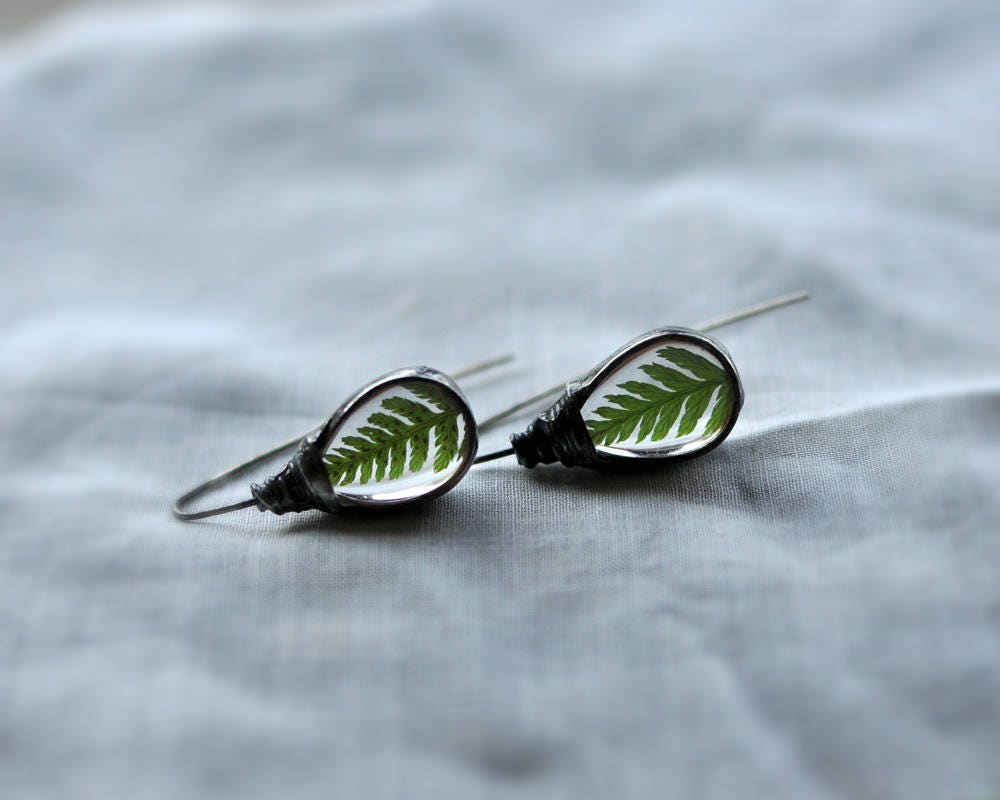 Terrarium Jewelry Dangle Earirings Bridal Jewelry Hook # Terrarium Dangle