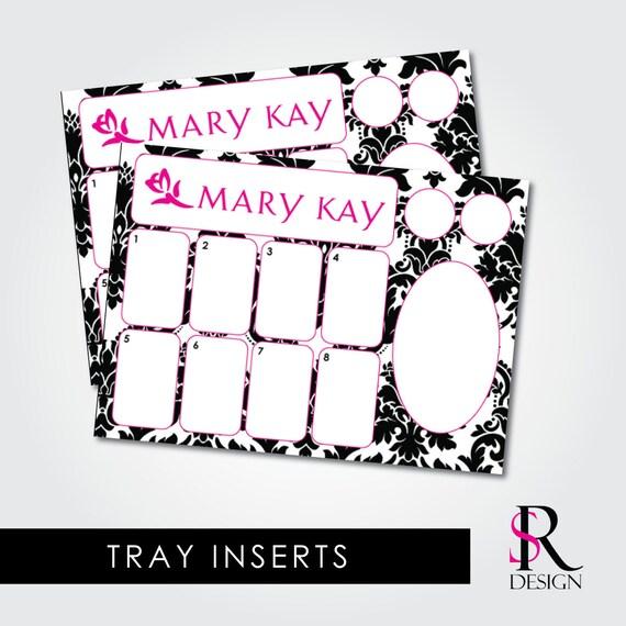 Mary Kay Tray Inserts, Black and White