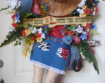 RESERVED - Cowgirl Wreath