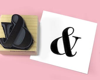 Large Ampersand Rubber Stamp