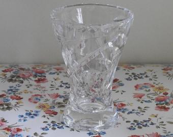 Lead Crystal Bud Vase