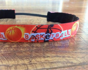 Basketball Sports Headbands for Girls - Athletic Headband Adult Basketball Gifts - Girls Basketball Headband -Womens Sport Non Slip Headband
