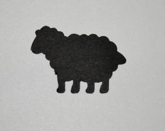 Sheep Die Cut 1 inch size 50 pieces , You choose colors listed