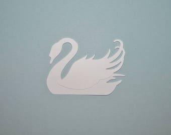 Swan Die Cut Confetti Scrapbooking Party Supply 25 sets swan body and wing, size 2 inch (DIY you glue wings) you choose color