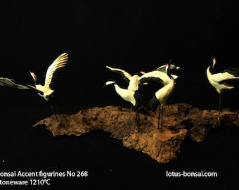 Bonsai Accent Figurines No 268,  Bird Size 8x5x3cm,  support made of Majorca Olive tree Sculpture 06/2017