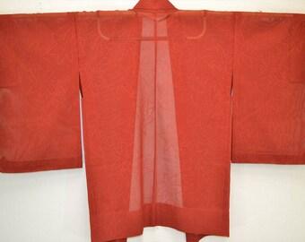 HAORI JACET F78a - Red Brown See Through Autumn Leaf