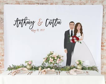 Wedding Backdrop Curtain Couple Portrait - Wedding Photo Back Drop Curtain,  Wedding backdrop Curtain for Photo Booth - The Penny