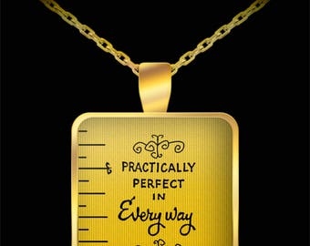 Mary Poppins Practically Perfect Gift Necklace Disney (Choice of Metal)