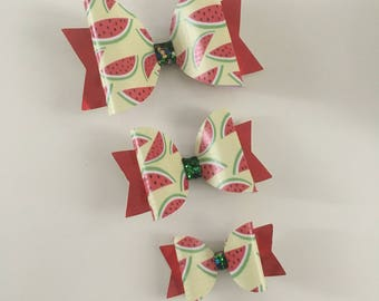 Watermelon Holiday Bow