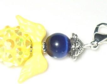 1 pendant angel Blue, yellow 4cm