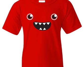 Om Nom Nom Monster Face YOUTH T Shirt