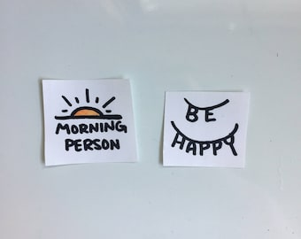 simple things positive thinking motivational inspirational sticker set