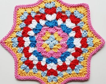 Medium sized crochet mandala/doily diameter 25cm/10inches