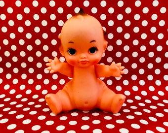Vintage Kewpie Doll Sitting Kewpie Kitschy Kitsch Collectible 1970s, Kawaii