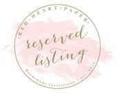 Reserved Listing - TEAIRA