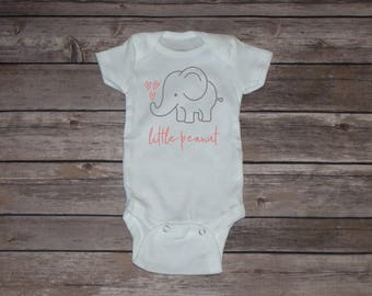 Little peanut Elephant Baby Bodysuit | Long Sleeve | Short Sleeve