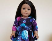 Galaxy Dress for Ameican Girl and other 18 inch dolls by The Glam Doll